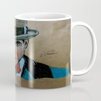 boardwalk empire Mugs featuring Arnold Rothstein (Boardwalk Empire) by Bina Leo