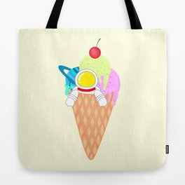 Space Odyssey Ice Cream | Astronaut Ice Cream | Space Ice Cream | Galaxy Ice Cream | pulps of wood Tote Bag