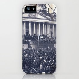 Inauguration of Pesident Abraham Lincoln (March 4, 1861) iPhone Case