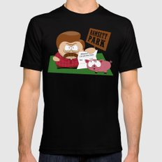 South Parks and Rec Mens Fitted Tee Black 2X-LARGE