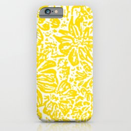 Gen Z Yellow Marigold Lino Cut iPhone Case