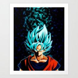 GOku ssjblue Art Print