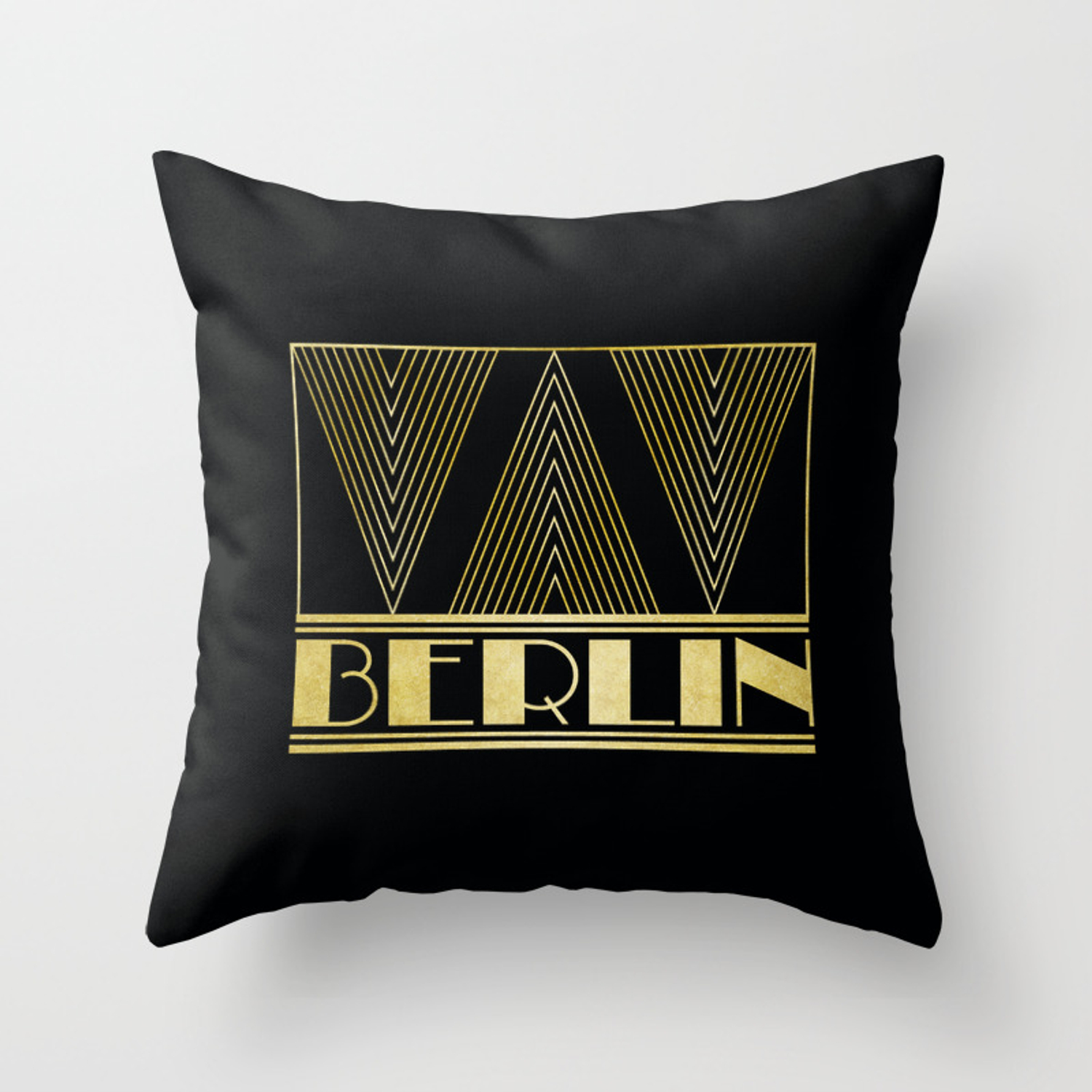 Art Deco Throw Pillows.Berlin Germany Art Deco Throw Pillow