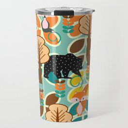 Magical forest with foxes and bears Travel Mug
