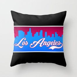 Los Angeles C Classic City Throw Pillow