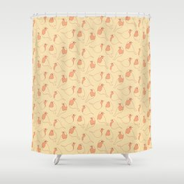 Robin's Egg in Yellow Shower Curtain