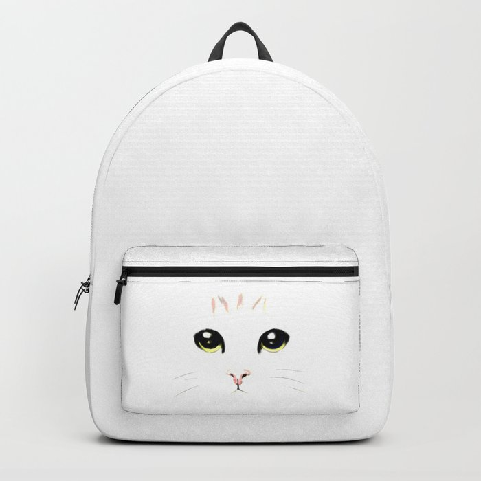 cat white Backpack