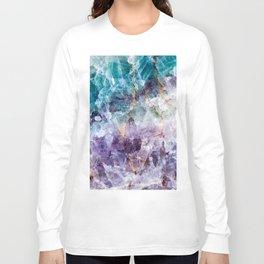 Turquoise & Purple Quartz Crystal Long Sleeve T-shirt