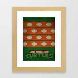 LYNAS Mutant Ninja Turtles: Michelangelo Framed Art Print