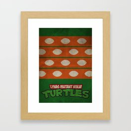 LYNAS Mutant Ninja Turtles: Michelangelo Framed Art Print