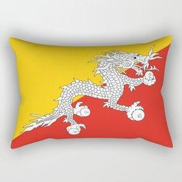 Bhutan country flag Rectangular Pillow