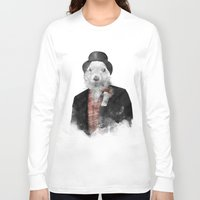 phil jones Long Sleeve T-shirts featuring Mr. Phil by Robert Farkas