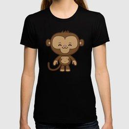 Little Monkey / Pink & Blue T-shirt
