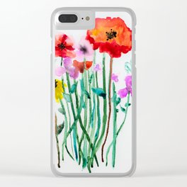 Sofia Flowers Clear iPhone Case
