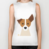 jack russell Biker Tanks featuring Jack Russell by Page 84 Design