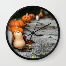Pumpkin, Ground And Pathways, Candle Wall Clock
