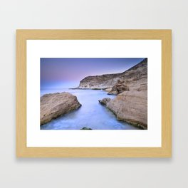 """Blue Volcano"" Framed Art Print"
