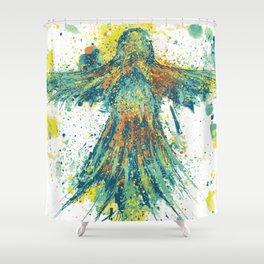 Parrot Splatter Shower Curtain