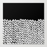 knit Canvas Prints featuring Half Knit by Project M