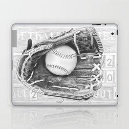 Softball (black and white) Laptop & iPad Skin