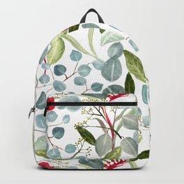 Eucalyptus Kangaroo paw watercolor floral design Backpack
