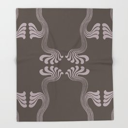 Art Nouveau Paisley Throw Blanket