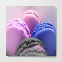 macaroons Pink Lavender Blue Metal Print