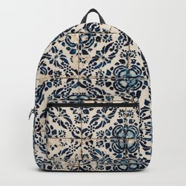 Azulejo IX - Portuguese hand painted tiles Backpack