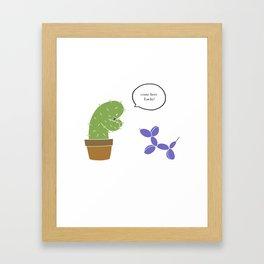 Lucky pet Framed Art Print