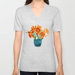 Lily Blossom Unisex V-Neck
