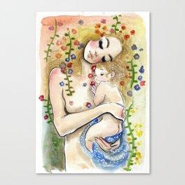 Klimt6 : Mother and Child Canvas Print