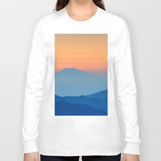 Orange Valley #mountains Long Sleeve T-shirt