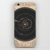 solar system iPhone & iPod Skins featuring Solar System by Le petit Archiviste