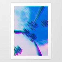Glitch Palms Art Print