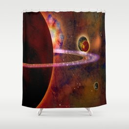 TWO MOONS - 336 Shower Curtain