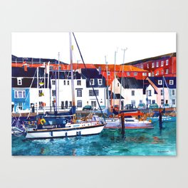 Weymouth Port Canvas Print
