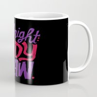 cocaine Mugs featuring Midnight: Ready to Draw by Chris Piascik