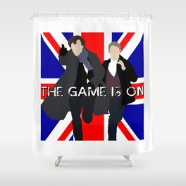 The Game is On Shower Curtain