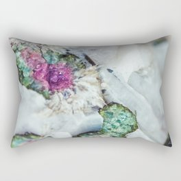 Colorful watermelon tourmaline crystal, macro #society6 Rectangular Pillow