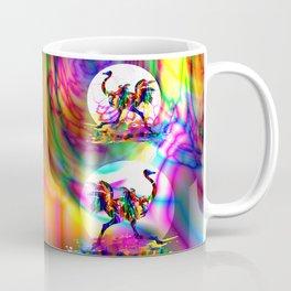 Ostrich running. African tropical colorful bird. Coffee Mug