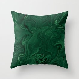 Modern Cotemporary Emerald Green Abstract Throw Pillow