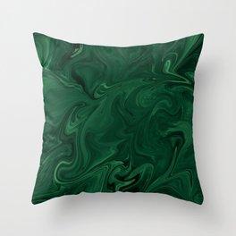 Modern Cotemporary Emerald Green Abstract Throw Pillow