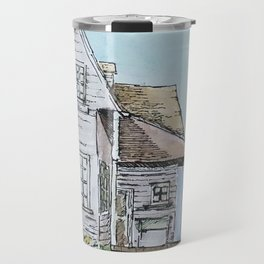 American Old Style Cabin Travel Mug