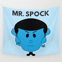spock Wall Tapestries featuring MR. SPOCK by minuitsurmars