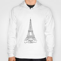 eiffel tower Hoodies featuring Eiffel Tower by Stacey Walker Oldham