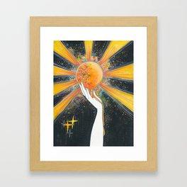 Hold onto your sun Framed Art Print
