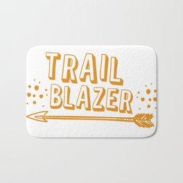 Trail blazer with arrow in orange Bath Mat