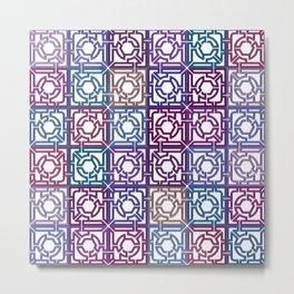 Colorful Maze V Metal Print