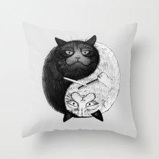 Grumpy Yin Yang Throw Pillow