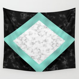 Mint marble Wall Tapestry